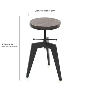 Adjustable Stool with Steel Legs for Durability