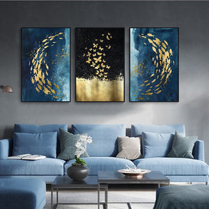 Abstract Canvas Wall Art Modern 3 Panel Painting Prints Picture Artwork for Living Room, Bedroom etc.