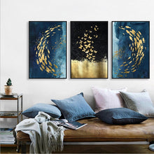 Load image into Gallery viewer, Stunning Three Panel Abstract Art Piece Framed Canvas for Home & Business Decor