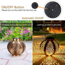 Load image into Gallery viewer, Solar Powered Pattern Lantern for Garden