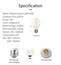 Load image into Gallery viewer, App Controlled WIFI Dimmable Bulb 7.5W