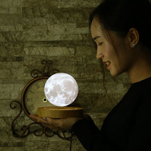 Hovering Fully Crater Printed Spinning Night Lamp