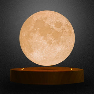 Floating Full Moon 3D Lamp, Rotating, Spinning Decor Table Lamp