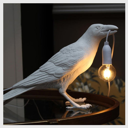 Standing Bird Lamp LED Wall with Plug in Cord Living Room Bedside Lights