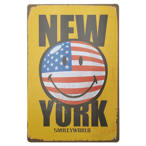 New York Vintage Nostalgic Metal Sign, Hanging On The Wall