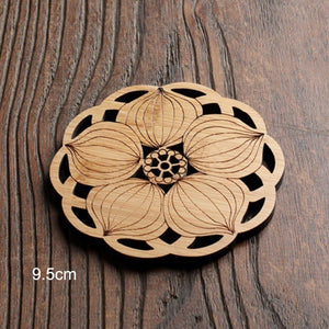 Natural Wooden Coasters & Tea Serving Trays, Perfect for tea cups or cocktails! 6 options