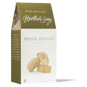 6 Boxes - Mini Biscotti 7oz Lemon Almond (42oz)