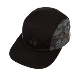 Five-Panel Flat Brim Cap(Black and Yellow)