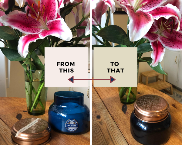 diy anthropologie reuse leftover wax upcycle jar