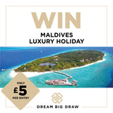 MALDIVES VILLA LUXURY HOLIDAY - PRIZE DRAW TICKET