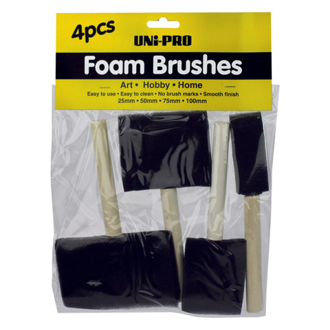 Foam Brush Set 4pcs