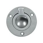 Cabinet Flush Ring Pull 55mm Satin Chrome