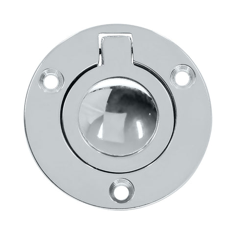 Cabinet Flush Ring Pull Round 55mm Chrome