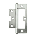 Flush Hinge SS 100x2mm Fixed Pin 2pk