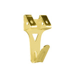 Double Angle Drive Picture Hook 30mm Brass 3pk