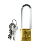 Long Shackle Brass Padlock 30mm (Keyed Different)