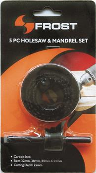 Holesaw & Mandrel 5pc Set