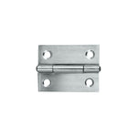 Butt Hinge Brushed Stainless Steel 50x40 Fixed Pin 2pk