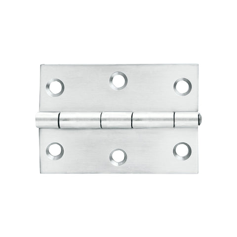 Butt Hinge SS 70x50mm Loose Pin 2pk