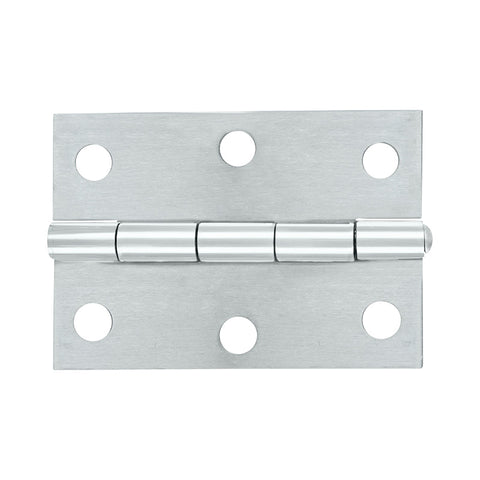 Butt Hinge Brushed Stainless Steel 85x60 Loose Pin 2pk