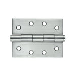 Broad Butt Hinge SS 100x75mm Fixed Pin 2pk