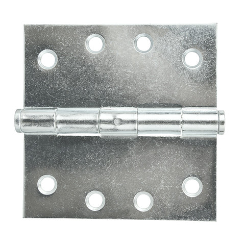 Broad Butt Hinge Zinc 100x100 Fixed Pin