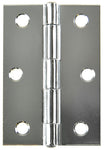 Butt Hinge Chrome 85x60mm Fixed 2pk