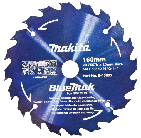 BlueMak Saw Blade 160mm x 20mm