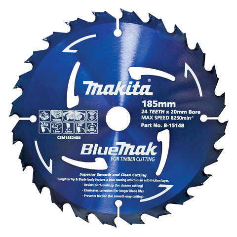 BlueMak Saw Blade 185mm x 20mm