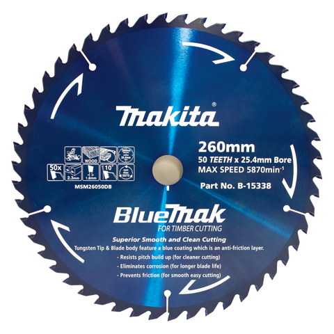 BlueMak Saw Blade 260mm x 25.4mm