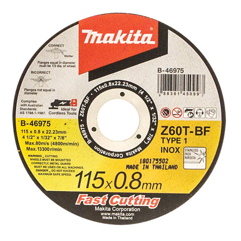 Elite Inox Cut Disc 115mm x 0.8mm