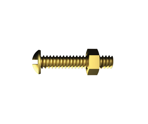 Round Bolt Brass 1/8 x 25mm