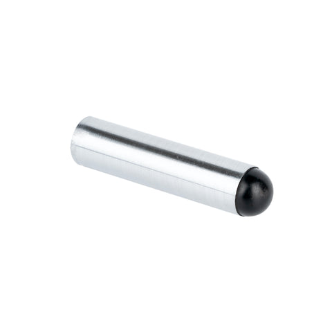 Round Bullet Metal Door Stop 75mm Satin Chrome