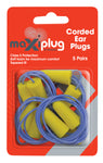 Corded Earplugs 5 pair