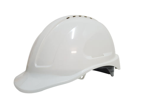 White Vented Hard Hat