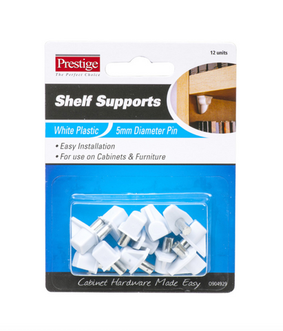 Shelf Supports White Plastic