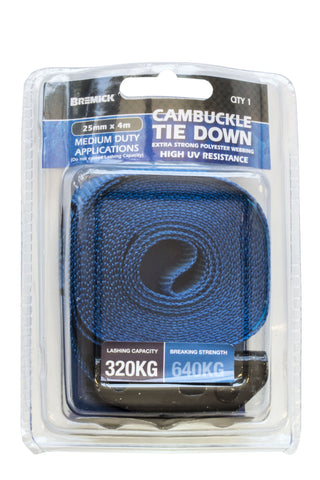 Cambuckle Tie Down 25mm x 4m