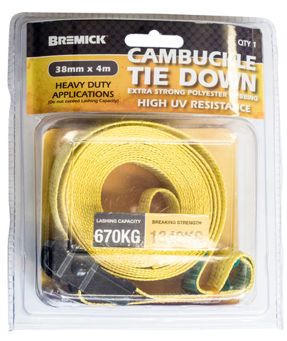 Cambuckle Tie Down 38mm x 4m