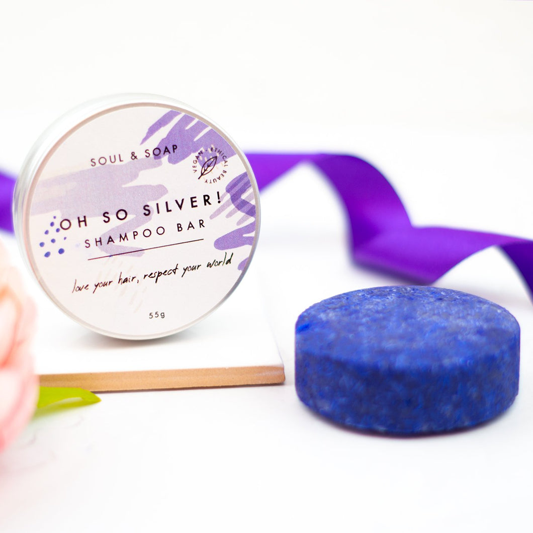 Soul & Soap - Oh So Silver Solid Shampoo Bar - Vegan