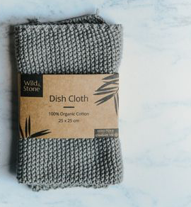 Dish Cloths - 100% Organic Cotton (Dove Grey)