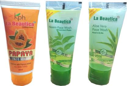 La Beautica- Neem, Aloe-Vera & Papaya Face Wash