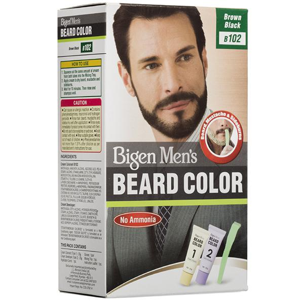 Bigen Mens Beard Color Brown Black B102
