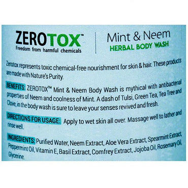 Healthbuddy Ayurvedic Zerotox Herbal Mint & Neem Body Wash