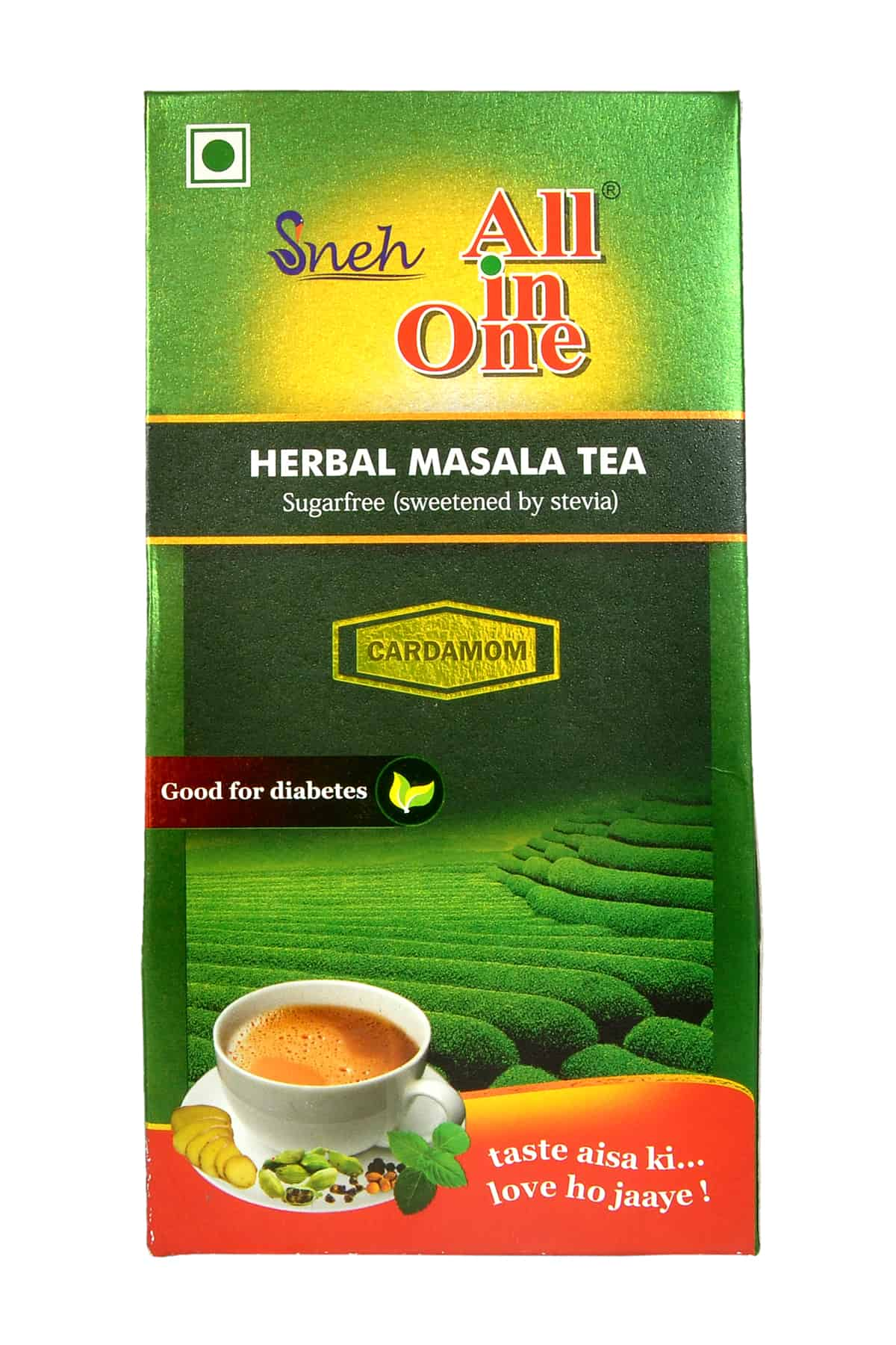 SNEH- Herbal Masala Tea (Sugarless- sweetened with stevia)- Pack of 8