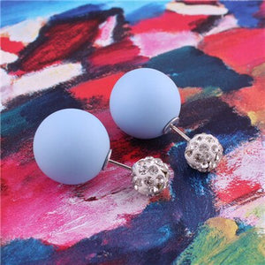 Cotton Candy Crystal Pearl Earrings