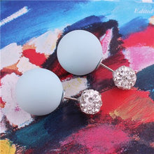 Load image into Gallery viewer, Cotton Candy Crystal Pearl Earrings