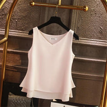 Load image into Gallery viewer, 2020 Fashion Brand Women's blouse Tops Summer sleeveless Chiffon