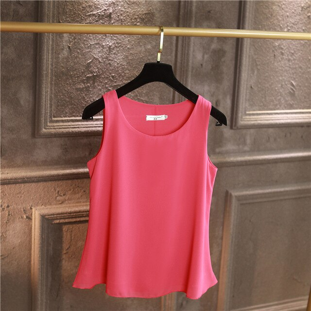 100% Original YUANYU New Arrival Sleeveless Casual blouse
