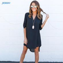 Load image into Gallery viewer, JESSIC Chiffon Summer Casual Dress