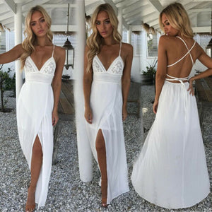 Elegant Evening Beach Maxi Dress